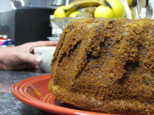עוגת בננות עם שוקולד ופיסטוק ירוק
