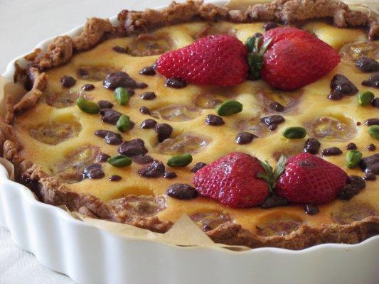 עוגת גבינה אפויה - בננה ספליט