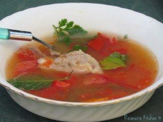 מרק צ'ורבה מדגים