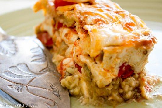 מוסקה חצילים עם גבינה