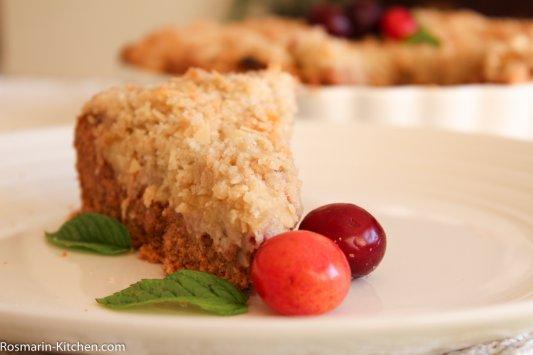 עוגת שזיפים עם שטרייזל – עוגה פירות וללא גלוטן