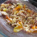 דג ממולא בירקות וגבינת פרמזן אפוי בתנור 6