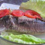 דג ממולא בירקות וגבינת פרמזן אפוי בתנור 7