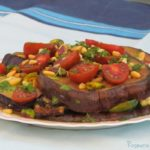 פרוסות חצילים בתנור - סלט אפוי