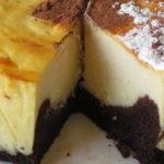 עוגת גבינה אפוייה בסגנון היער השחור